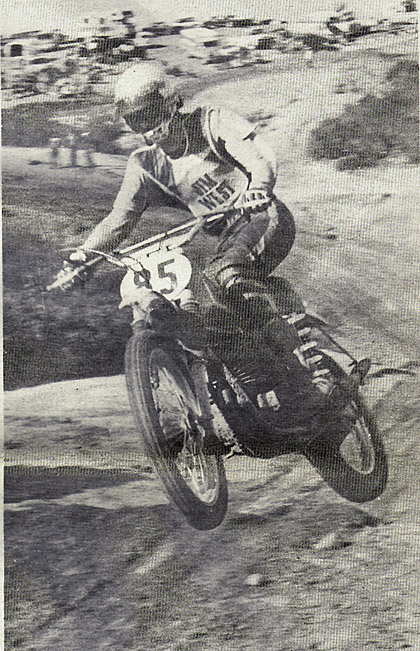 Jim West ran away and hid in both the 500 Pro motos. He was so far in front in the second moto, he nearly lapped second place, who was Richard Thorwaldson. Heidbrink photo.