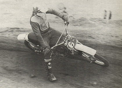 Eddie Cole, riding tor Steve's Bultaco. was the man to beat in the 250 class.   He took his Bui to the win over Payne and the rest of the full 250 Pro class.   Hatounian photo.