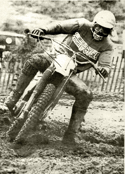 Mike Gillman was out racing his Yama-Maico. a YZ with Maico forks on it.   It does help. with it isn't one of the cheaper investments for a bike.  Corley photo.