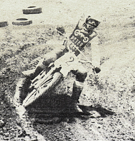 Pistol Pete Maly seems to have taken a liking to AMC motocross racing.   He came out to Rawhide and had a ball.    Wasp photo.