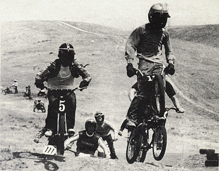 Those bikers in Bakersfield really get down to it on two wheels.  Look at them go.  Bishop photo.