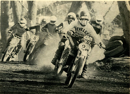 Will Harper leads Russ McAfee and Kevin Tucker into the esses on the Shadow Glen track at Indian Dunes.  Hatounian photo.